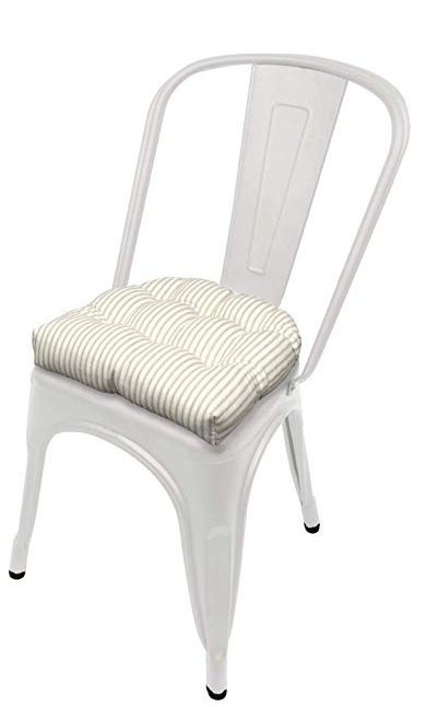 tolix metal chair with coushion