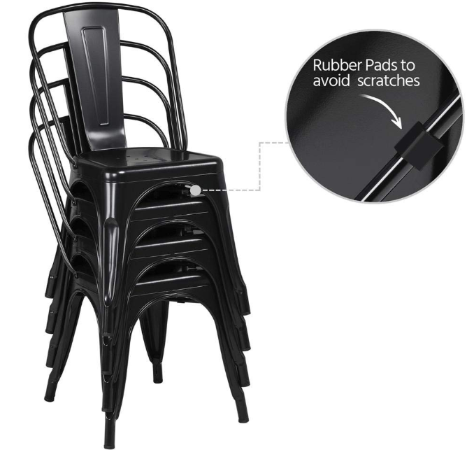 metal stackable side chair for farmhouse
