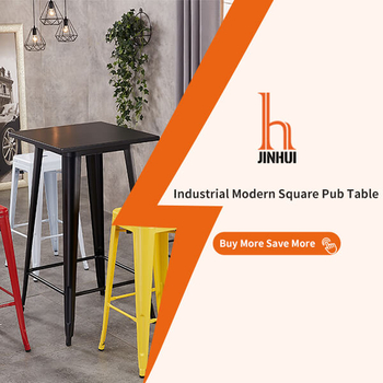 60CM Square Heavy Duty Rustic Industrial Style Table for Bistro Pub Farmhouse Restaurant Cafe Home Kitchen