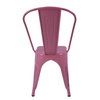 H JINHUI living room dining chairs Bistro Cafe Chairs Classical antique vintage industrial metal chair 710201 Pink