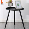 Round Side Metal End Table For Small Spaces