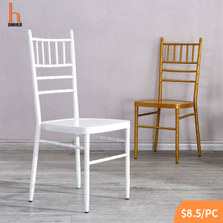 H Jinhui Economy White Chiavari Chair(Metal Steel Frame)