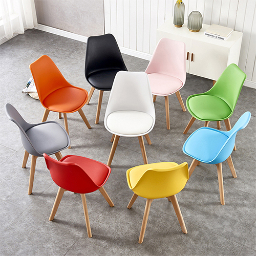 H JINHUI High Quality Modern Dining Chair with Wooden Legs