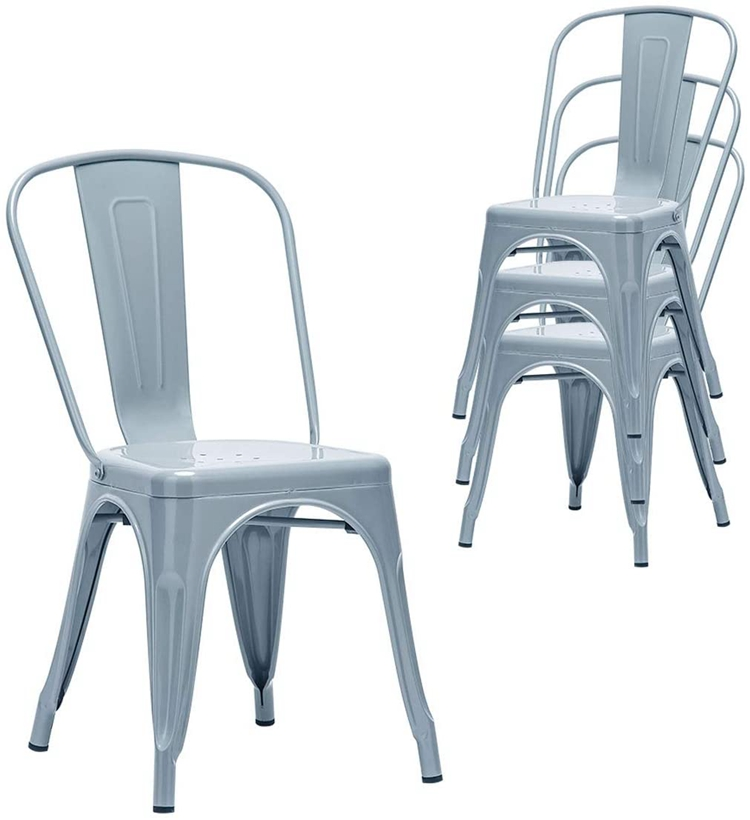 H Jinhui Classical Metal Dining Chair Save Space And Stability !