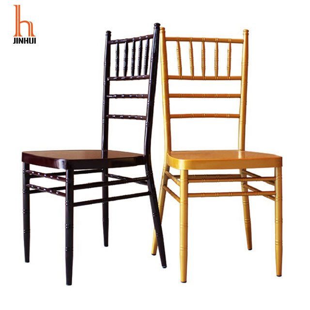 H Jinhui Aluminum Metal Gold Chiavari Chair