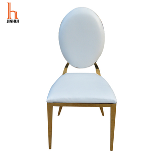 H Jinhui Wholesale Gold Stainless Steel Banquet Dining Chair