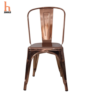 Hjinhui Farmhouse Electroplating Metal Dining Chairs