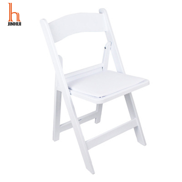 H Jinhui Padded American White Resin Folding Chairs for Wedding