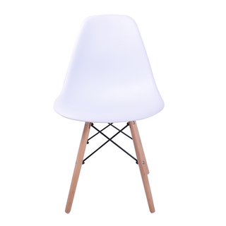 H-jinhui Modern Design Furniture Plastic Dining Chair with Wood Legs